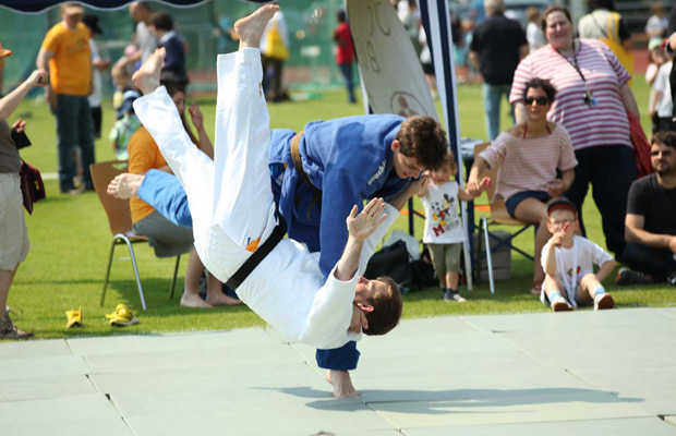 Judo ist eine von 35 Sportarten, die Kinder testen können. Foto: Heimspiele