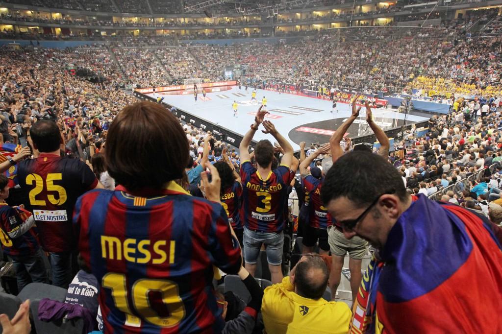 Zum CL-Showdown in Köln reisen wieder Handballfans aus ganz Europa an. Foto: IMAGO
