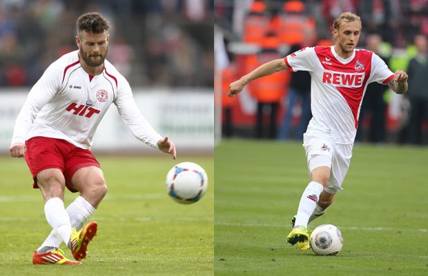 Für Jan-André Sievers (Fortuna, l.) und Marcel Risse steht am Sonntag das direkte Duell an. Foto: IMAGO/v.d. Laage/Zimmermann