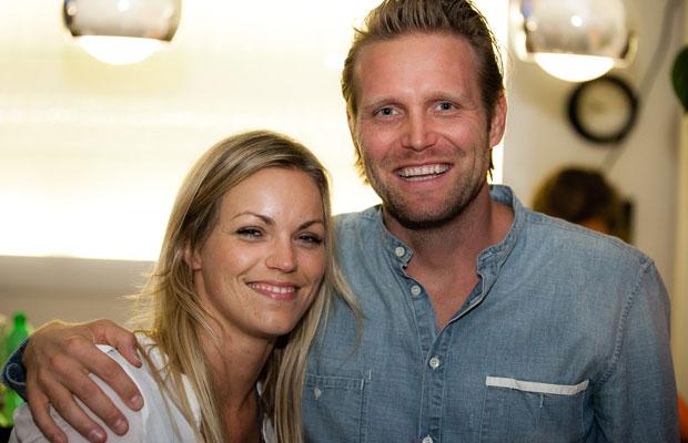 Beachvolleyball-Olympiasieger Julius Brink mit Ehefrau Verena. Foto: Peter Eilers