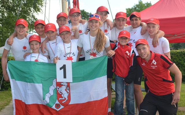 Geschichte geschrieben: Die jungen Ruderer des KRV nehmen an der Deutschen Meisterschaft teil. Foto: privat
