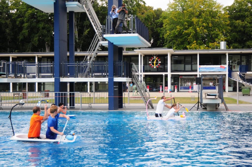Im Stadionbad findet in diesem Sommer die Qualifikation zur 1. EM im Badewannenrennen statt Foto: Wingens