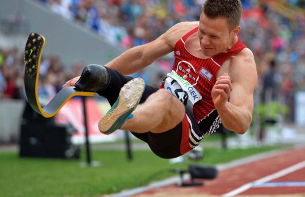 Behindertensportler Markus Rehm siegte bei den Deutschen Meisterschaften im Weitsprung. Foto: IMAGO