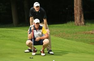 Felix Wartenberg (vorne) und die Marienburger Golfer können den Abstieg nicht verhindern Foto (DGV/stebl)