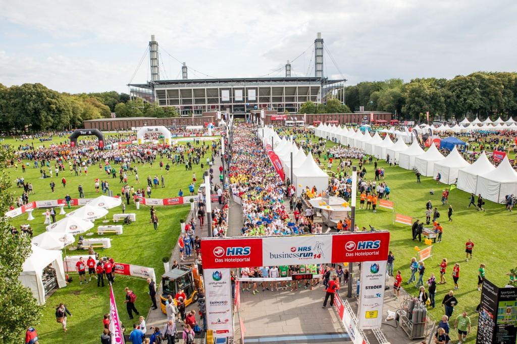 Erneut konnten die Veranstalter des HRS Business Run einen Teilnehmerrekord verzeichnen Foto: Presse HRS