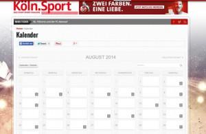 Der neuen kölsche Sportkalender –mitmachen und Termine eintragen!  Foto: Köln.Sport