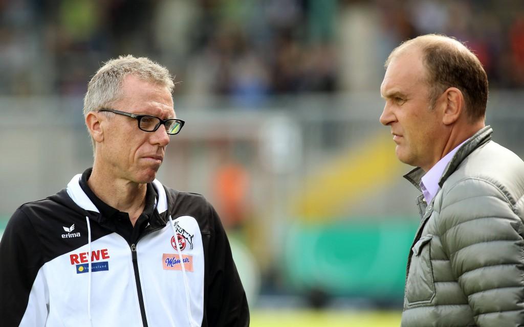 FC-Trainer Peter Stöger und Geschäftsführer Jörg Schmadtke gehen hoffnungsvolle in die neue Saison Foto: IMAGO/Contrast