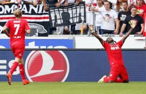 Auch dank Angreifer Anthony Ujah (r.): Der FC feiert seinen starken Start  Foto: imago/ActionPictures