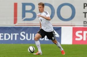 FC-Profi Yannick Gerhardt ist für den DFB-Nachwuchs im Einsatz Foto: IMAGO/Geisser
