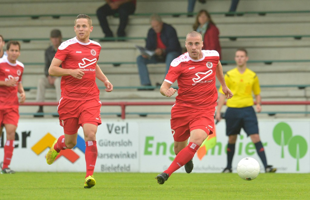 Viktorias erfolgreiches Führungsduo: Mike Wunderlich und Kapitän Timo Staffeldt (v.l.) Foto: IMAGO/Dünhölter SportPresseFoto