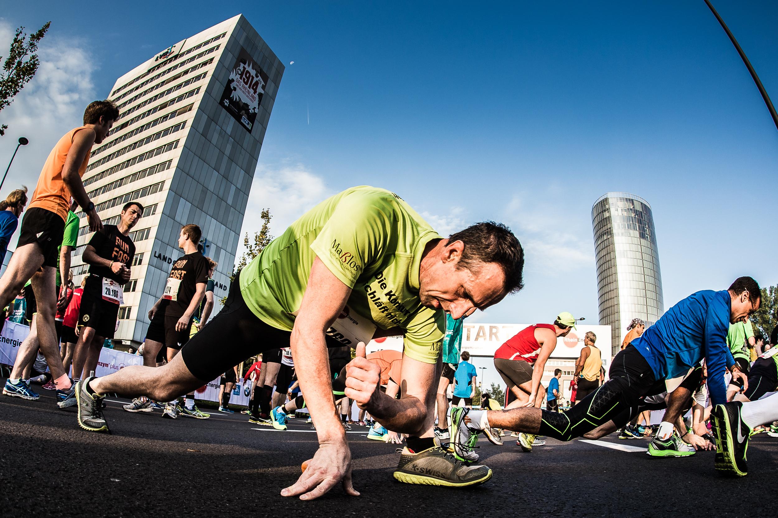 warm up vor dem koln marathon