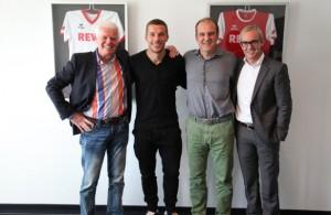 Nationalspieler Lukas Podolski zu Gast im Geißbockheim. Foto: FC