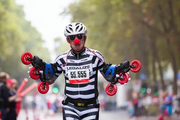 skater 2014 beim koln marathon