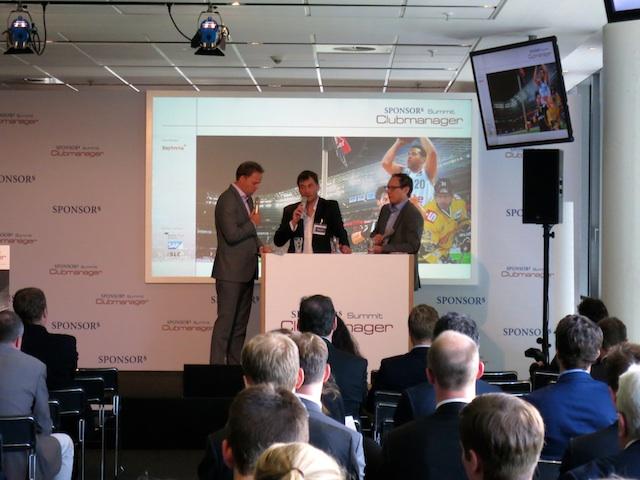 Auch andere Sportarten kamen zu Wort: Holger Kaiser (m., Handball-Bundesliga) und Mark Schober (r., Deutscher Handball-Bund)
