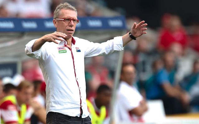 Neues Spiel, neue Aufstellung: FC-Trainer Peter Stöger orientiert sich oft am Gegner Foto: imago/Action Pictures