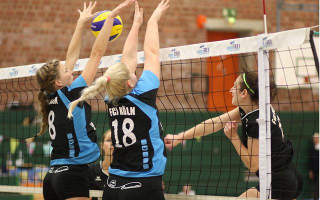 Auch die Volleyballdamen des FC Junkersdorf müssen in andere Hallen ausweichen. Foto: Volleyball-Förderverein SG FdG Herne e.V.