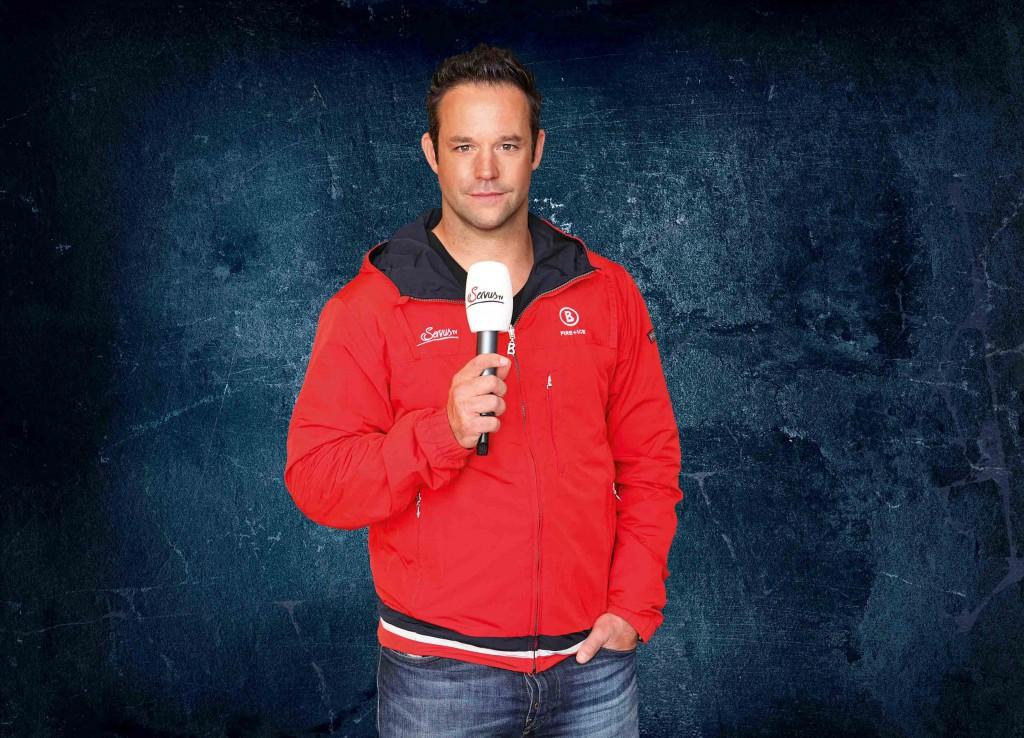 Hat die Schlittschuhe gegen das Mikrofon getauscht: ServusTV-Experte und Ex-Hai Tino Boos Foto: Frank Hempel