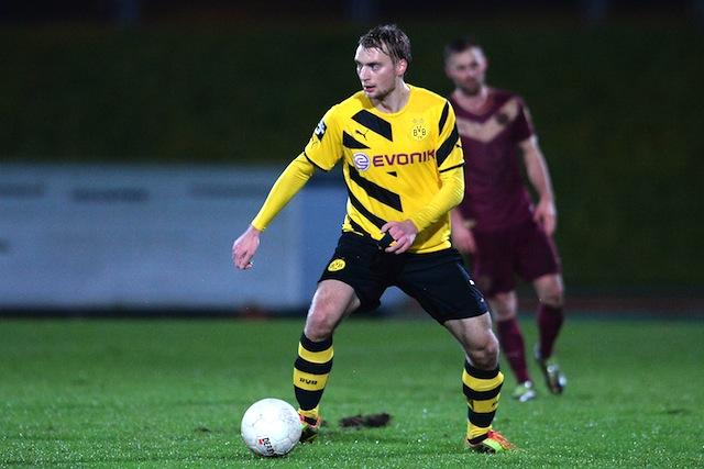 Trägt ab sofort das Trikot von Viktoria Köln: Dortmunds Angreifer Tim Väyrynen Foto: imago/Revierfoto