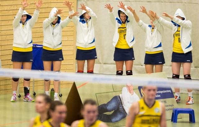 Eilen weiter von Sieg zu Sieg: Die Volleyballerinnen der DSHS SnowTrex Köln. Foto: Martin Miseré