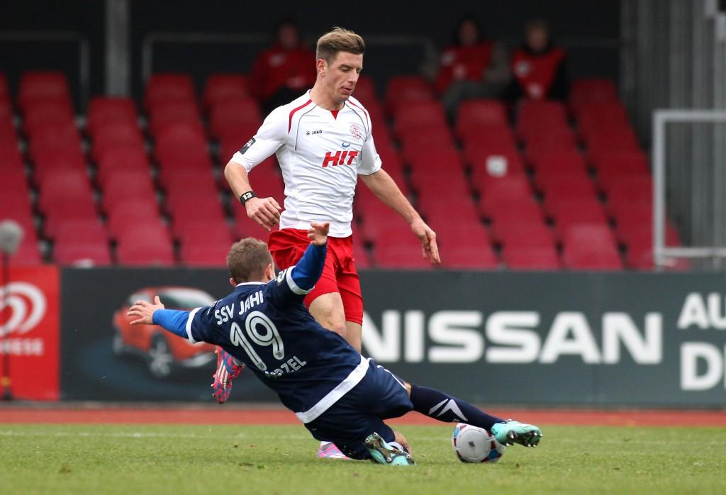 Mit elf Treffern ist Johannes Rahm Fortunas bester Torjäger. Gegen Duisburg droht er auszufallen. Foto: IMAGO/mika