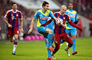 Gekämpft, doch letztlich chancenlos: Bei Bayern München unterliegt der 1. FC Köln mit 1:4 Foto: imago/Plusphoto
