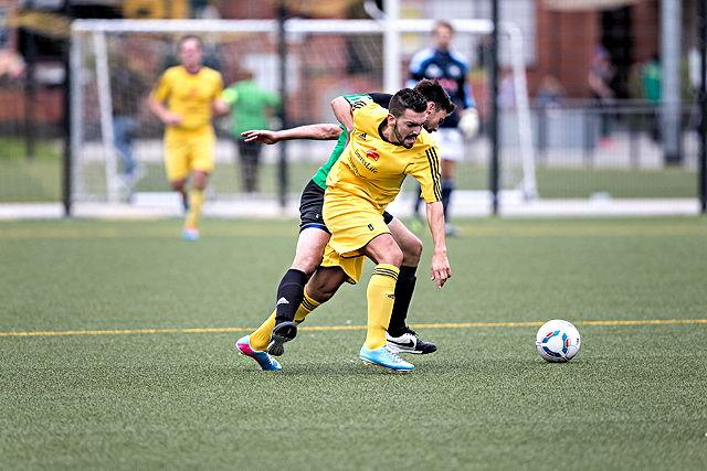 Hattrick innerhalb von zehn Minuten: Deutz-Mittelfeldspieler Telmo Pires-Teixeira Foto: Ben Horn