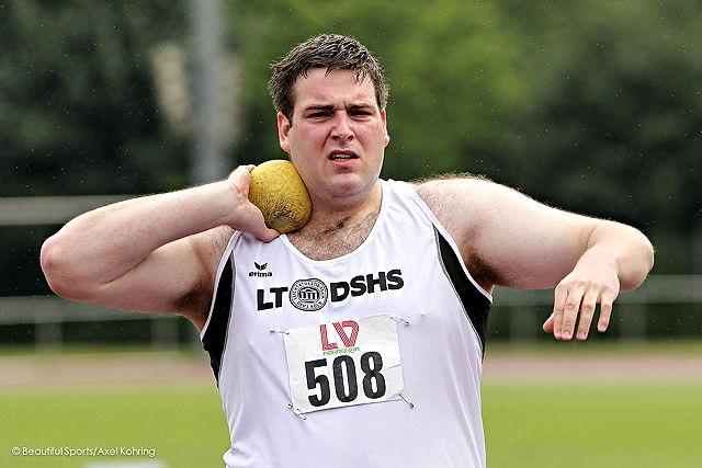 Steigerte seine Bestmarke um mehr als zwei Meter: Kugelstoßer Thomas Schmitt Foto: Beautiful Sports / Axel Kohring