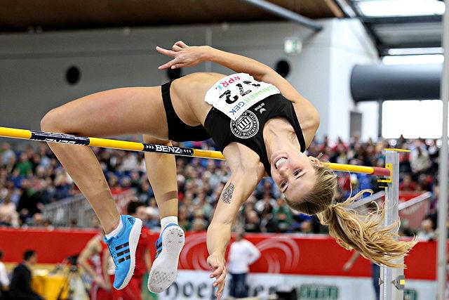 Ihre Bestleistung liegt bei 1,88 Meter: Hochsprung-Talent Alexandra Plaza Foto: imago/Chai v. d. Laage