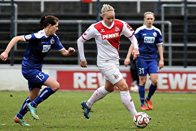 Bleibt den FC-Frauen erhalten: Top-Torjägerin Lise Munk (m.) Foto: imago/Foto2press