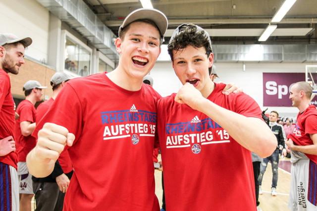 Werden die RheinStars auch in der kommenden Saison unterstützen: Tim van der Velde und Leon Baeck (v.l.) Foto: imago / Beautiful Sports