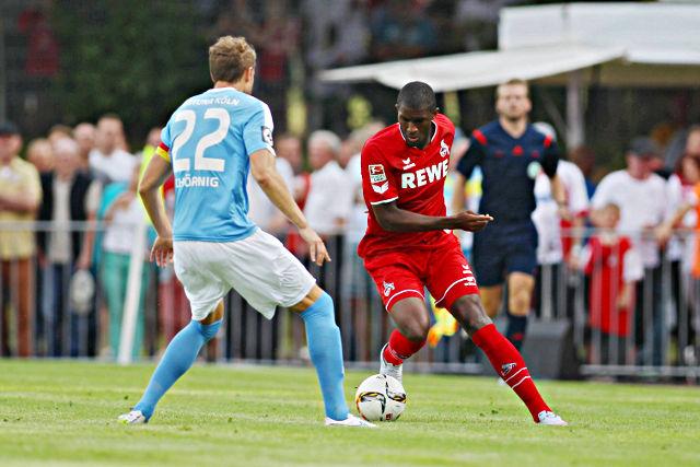 Erzielte den Führungstreffer für den 1. FC Köln: Neuzugang Anthony Modeste (r.) Foto: imago/Eibner