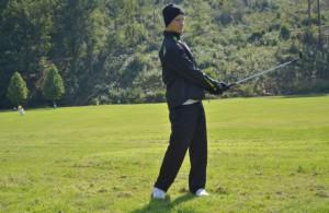 Nick Bachem, hier bei einem Fotoshooting für die aktuelle Golf.Spiel-Ausgabe, ist Deutscher Meister der AK 16 Foto: Daniel Becker