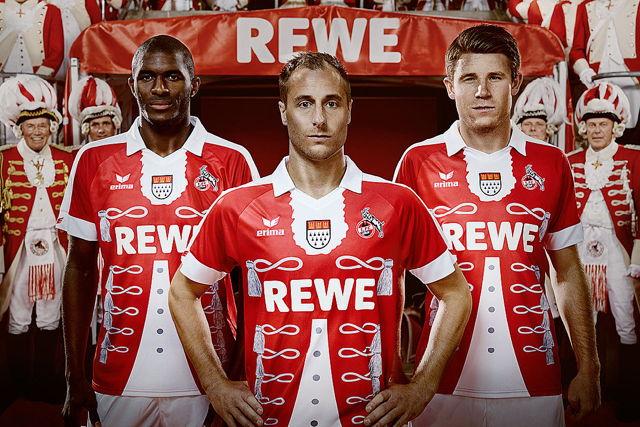 Schön oder nicht schön - das ist hier die Frage: Das neue Karnevalstrikot des 1. FC Köln Foto: 1. FC Köln