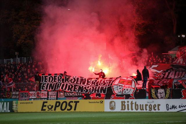 Präsentierten sich nicht auf Augenhöhe mit ihrer Mannschaft: Die Fans von Bayer Leverkusen Foto: imago/Eibner