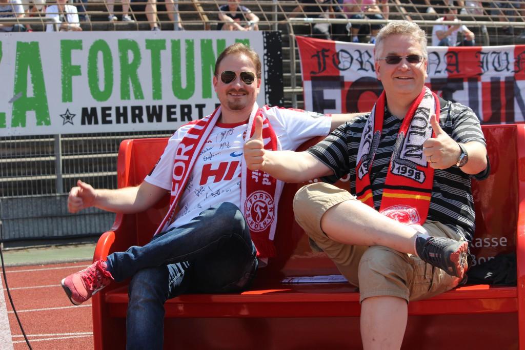 Das Spiel der Fortuna gegen Osnabrück können Sie mit Köln.Sport auf der Sparkassen Fanbank genießen