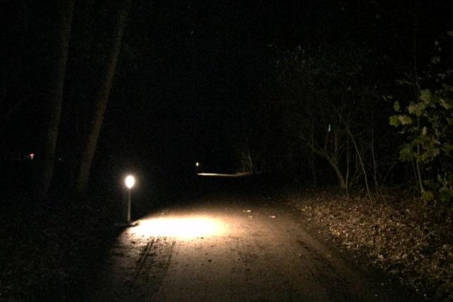 Der Stein des Anstoßes: Die Wahl der Beleuchtung bei der geplanten Laufstrecke Foto: Gina Haatz