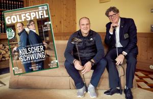 GOLFSPIEL traf die FC-Bosse Jörg Schmadtke (l.) und Toni Schumacher zum Interview.