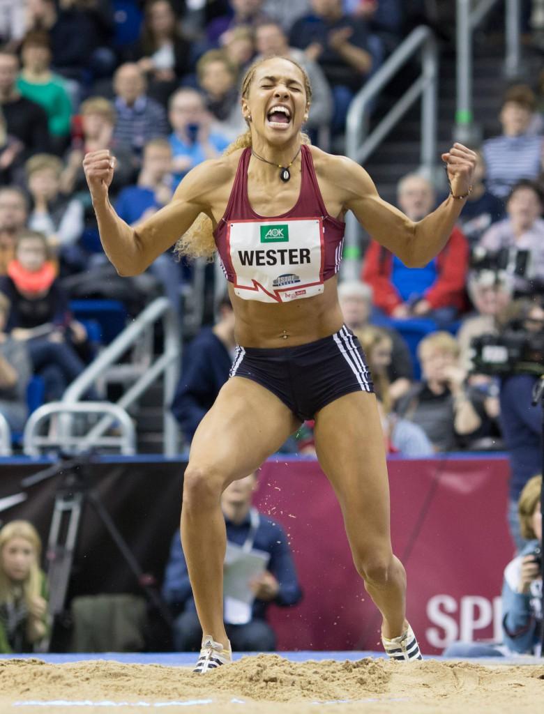 Alexandra Wester schreit ihren Jubel heraus