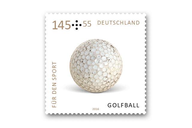 """Sonderbriefmarke Golf """"Für den Sport"""""""