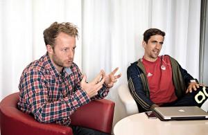 Andre Henning und Markus Lonnes, Trainer Rot-Weiss Köln