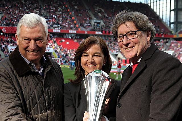 Heike Ullrich, Alfred Vianden und Toni Schumacher