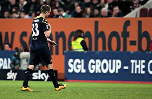 Matthias Lehmann, 1. FC Köln, verlässt das Spielfeld