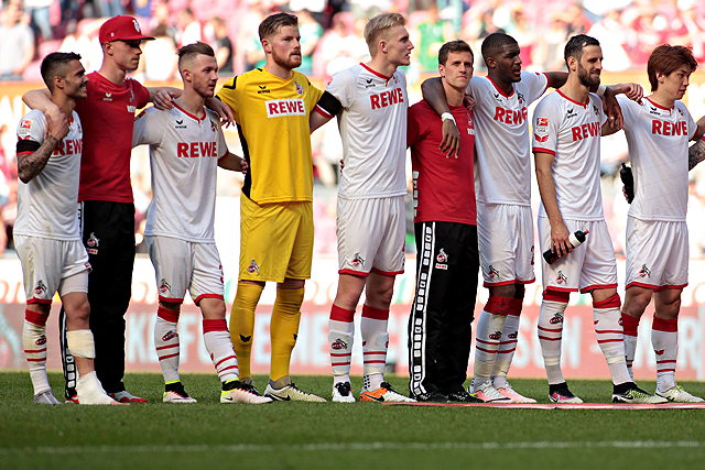 Die Helden des 1. FC Köln nach dem 0:0 gegen Werder Bremen