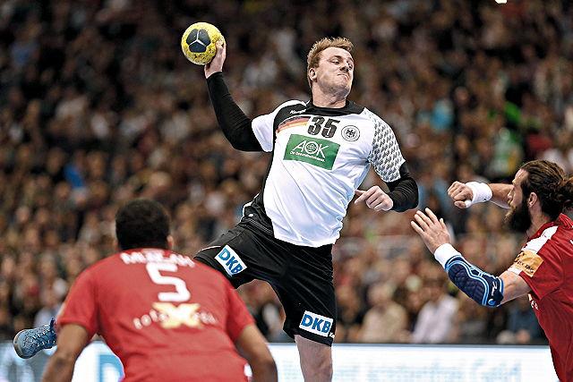 Julius Kühn (VfL Gummersbach) im Trikot der DHB-Auswahl