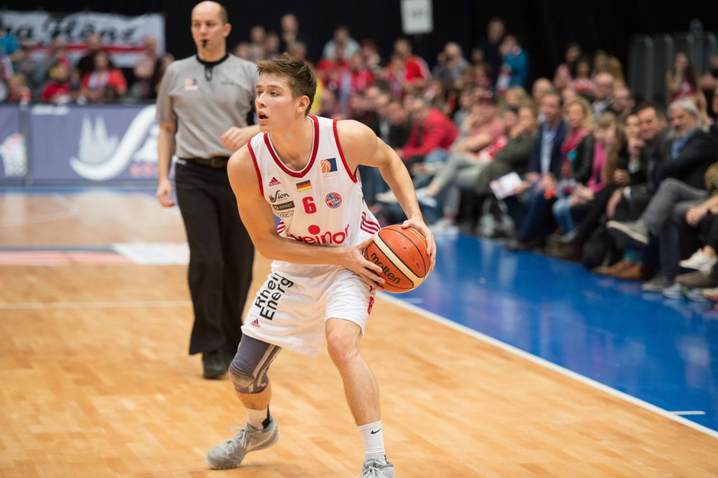 Der Kölner Basketballer Tim van der Velde