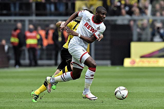 Anthony Modeste (1. FC Köln) am Ball