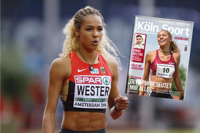 Alexandra Wester und ein Köln.Sport-Cover