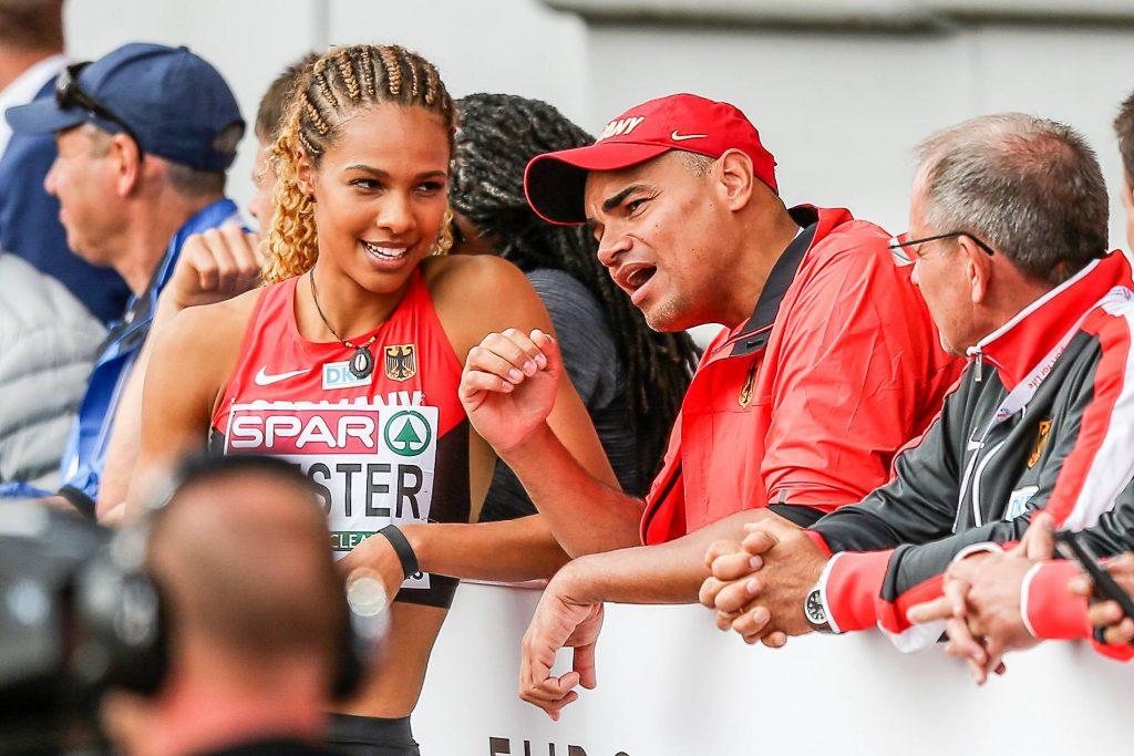 Alexandra Wester und Trainer Charles Friedek