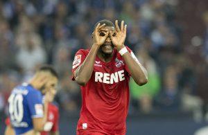 Anthony Modeste feiert sein Tor gegen Schalke 04