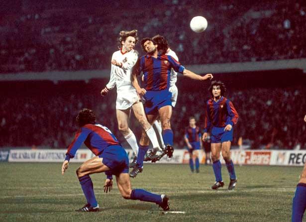 Köln siegte 1980 völlig überraschend 4:0 gegen Barcelona im Uefa Cup.